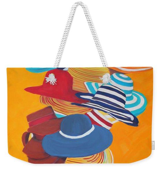 Hats Off Weekender Tote Bag