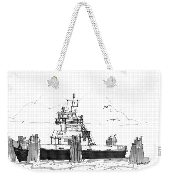 Hatteras Ferry Weekender Tote Bag