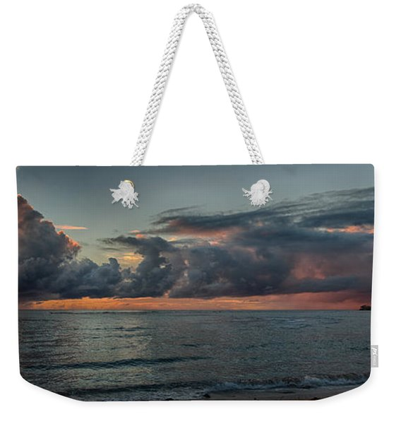 Hauula Sunrise Panorama Weekender Tote Bag