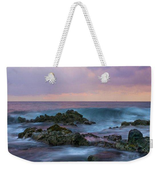 Hawaiian Waves At Sunset Weekender Tote Bag