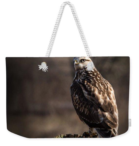 Hawk On A Post Weekender Tote Bag