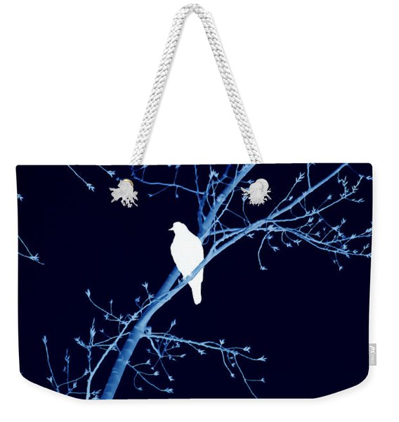 Hawk Silhouette On Blue Weekender Tote Bag