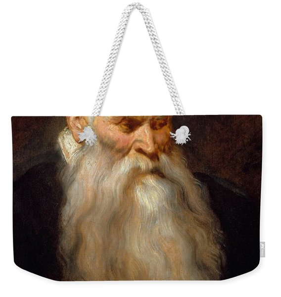 Head Of An Old Man With A White Beard Weekender Tote Bag