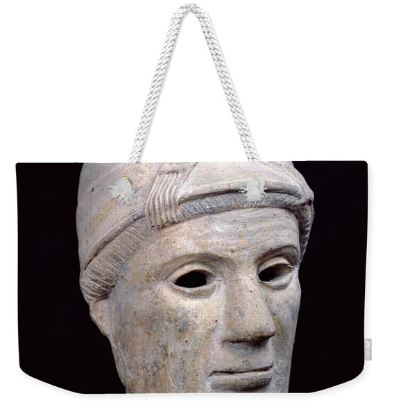 Head Of An Old Woman, From Cerveteri Clay Weekender Tote Bag