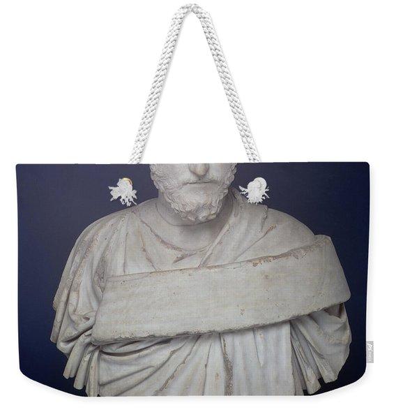 Head Of The Emperor Marcus Aurelius Weekender Tote Bag