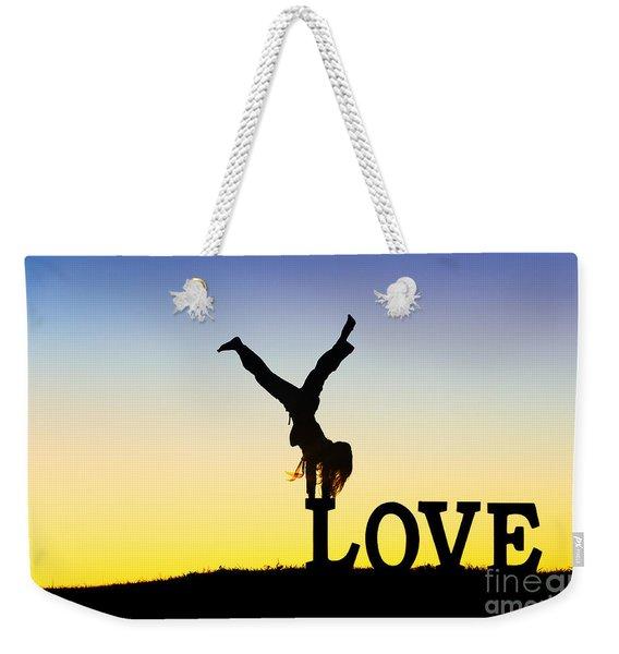 Head Over Heels In Love Weekender Tote Bag