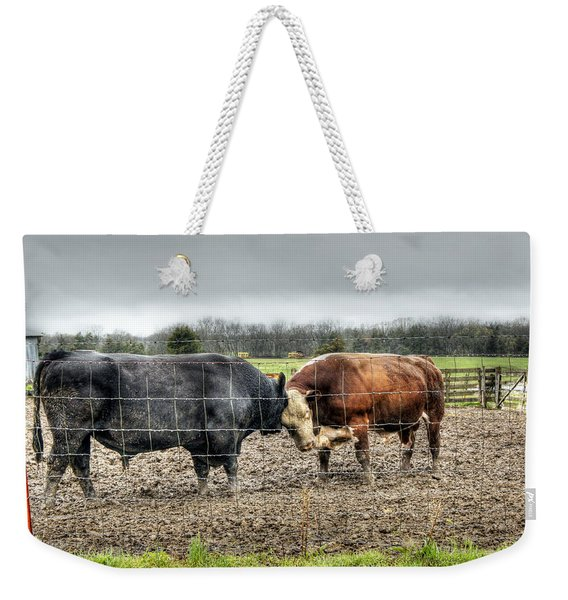 Head To Head Weekender Tote Bag