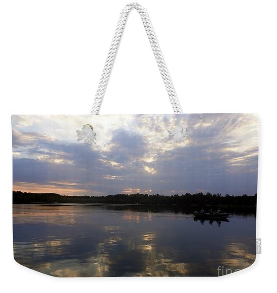 Heading Home On Lake Roosevelt In Outing Minnesota Weekender Tote Bag
