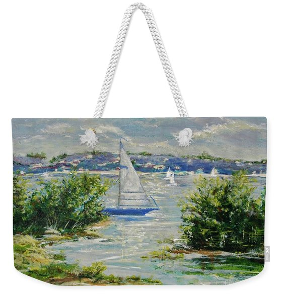 Heading Out Of The Harbor Weekender Tote Bag