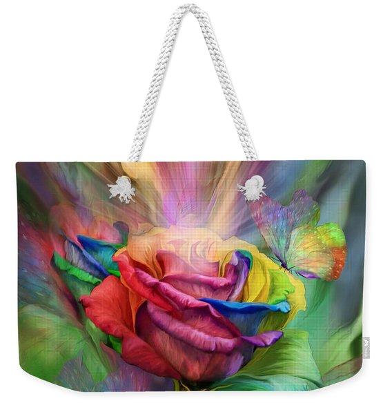 Healing Rose Weekender Tote Bag