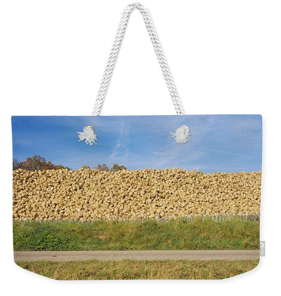 Heap Of Sugar Beets In A Field Weekender Tote Bag
