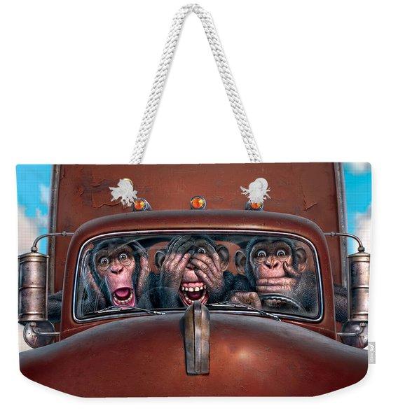 Hear No Evil See No Evil Speak No Evil Weekender Tote Bag
