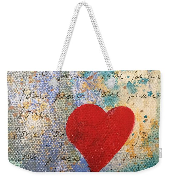 Heart #9 Weekender Tote Bag