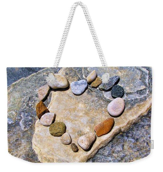Heart And Stones  Weekender Tote Bag