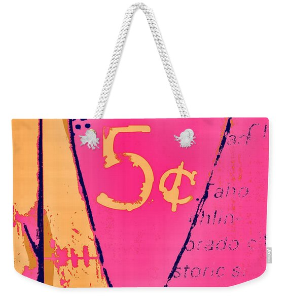 Heart Five Cents Weekender Tote Bag