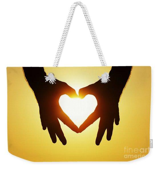 Heart Hands Weekender Tote Bag