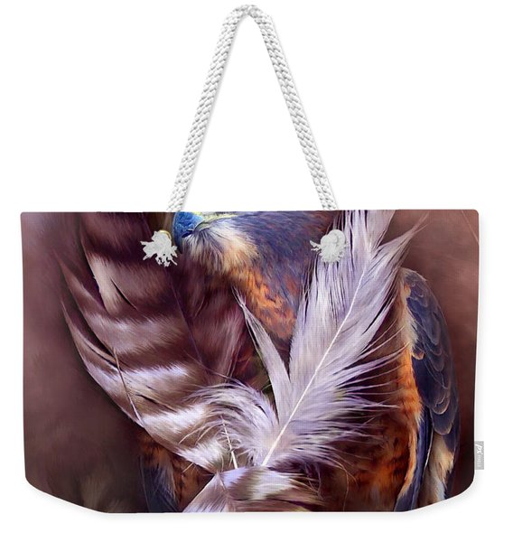 Heart Of A Hawk Weekender Tote Bag