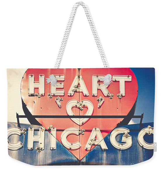 Heart Of Chicago Weekender Tote Bag