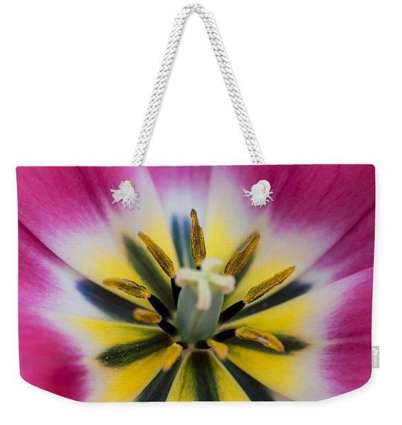 Heart Of Pink Tulip. The Tulips Of Holland Weekender Tote Bag