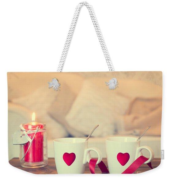 Heart Teacups Weekender Tote Bag