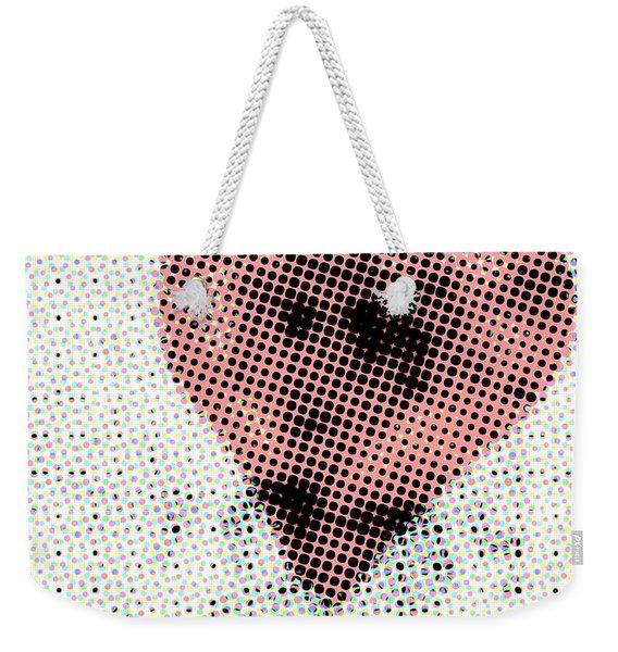 Hearts 21 Square Weekender Tote Bag