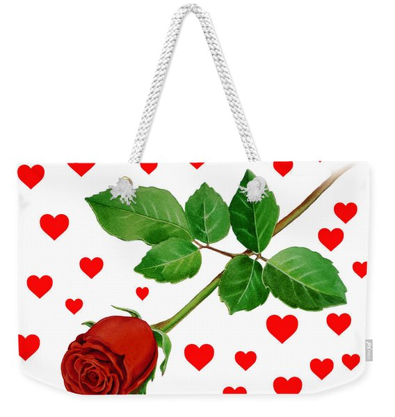 Hearts For Valentine Weekender Tote Bag