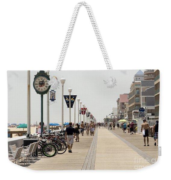 Heat Waves Make The Boardwalk Shimmer In The Distance Weekender Tote Bag