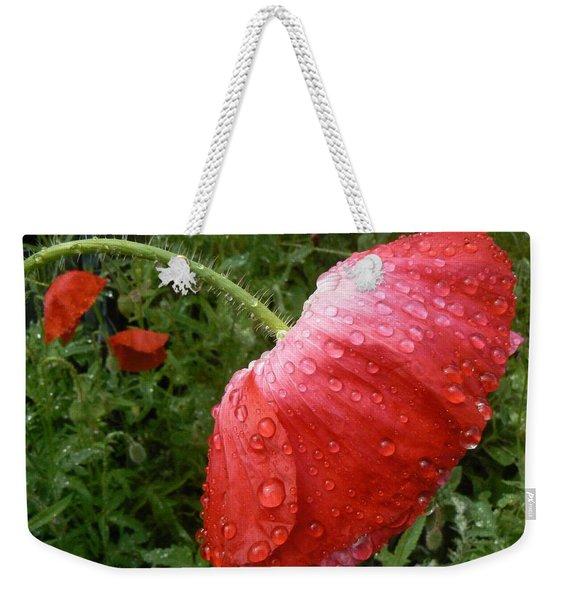Heavy Head Poppy Weekender Tote Bag