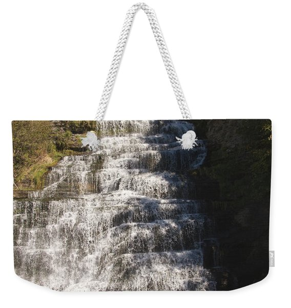Weekender Tote Bag featuring the photograph Hector Falls by William Norton