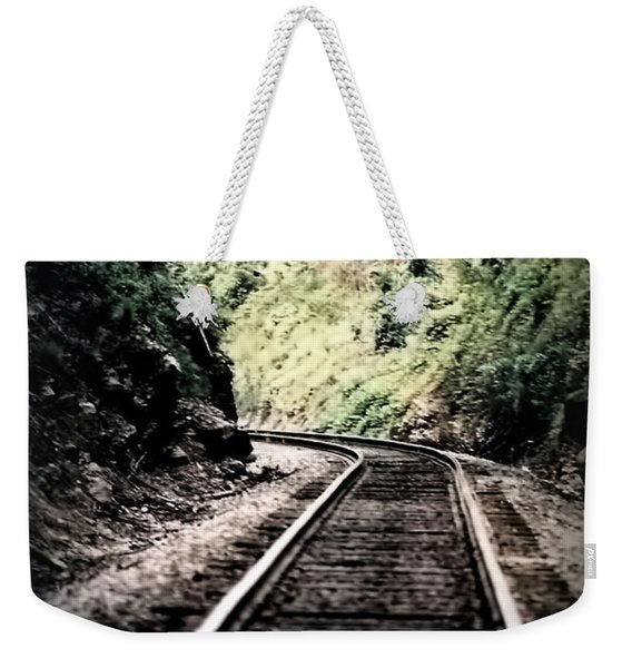 Hegia Burrow Railroad Tracks  Weekender Tote Bag