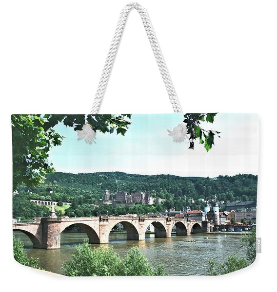 Heidelberg Schloss Overlooking The Neckar Weekender Tote Bag