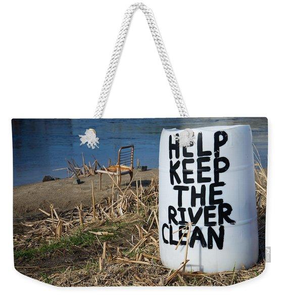Help Keep The River Clean Weekender Tote Bag