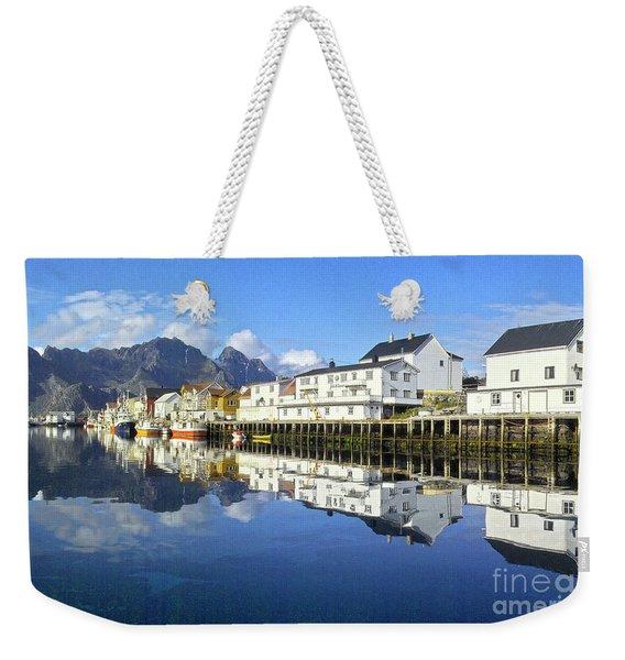Henningsvaer Harbour Weekender Tote Bag