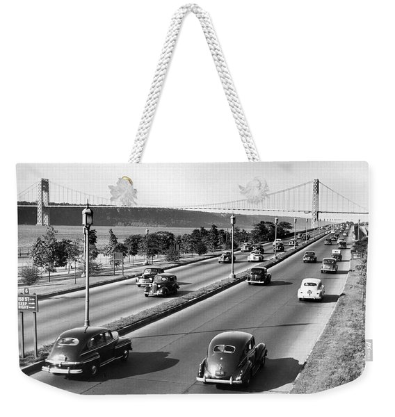 Henry Hudson Drive In New York Weekender Tote Bag