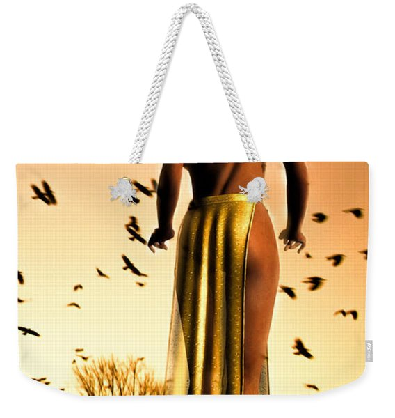 Her Morning Walk Weekender Tote Bag