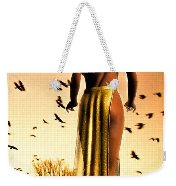 Her Morning Walk Weekender Tote Bag