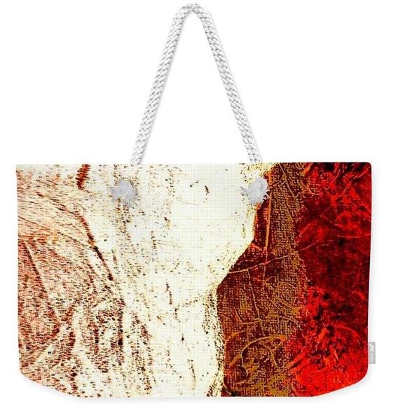 Her Red Silhouette Weekender Tote Bag