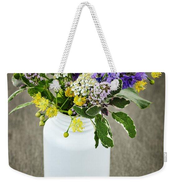 Herbal Medicine And Plants Weekender Tote Bag