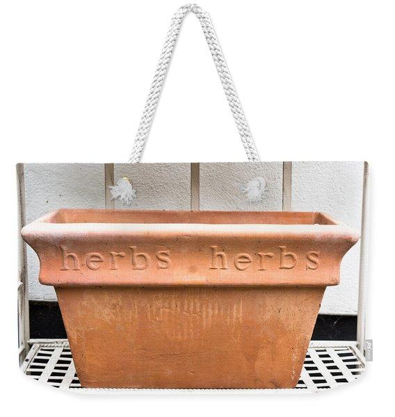 Herbs Container Weekender Tote Bag