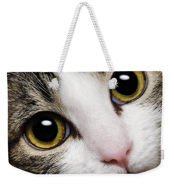 Here Kitty Kitty Close Up Weekender Tote Bag