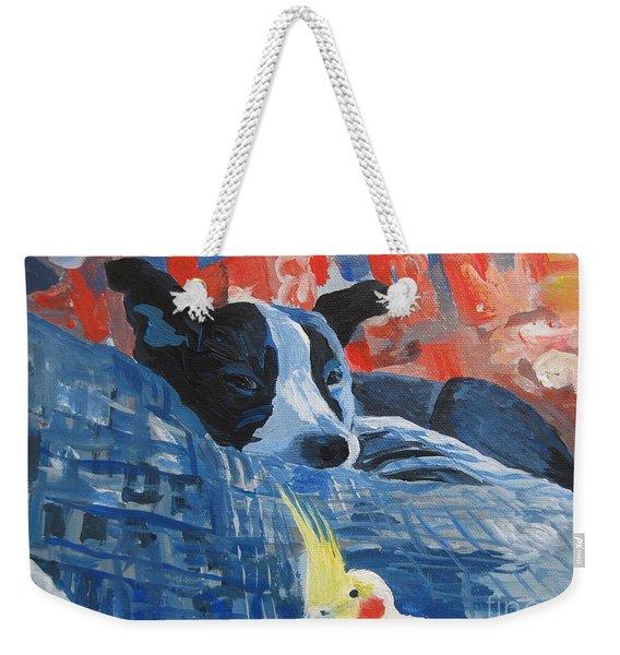 Heres Looking At You Pal Weekender Tote Bag