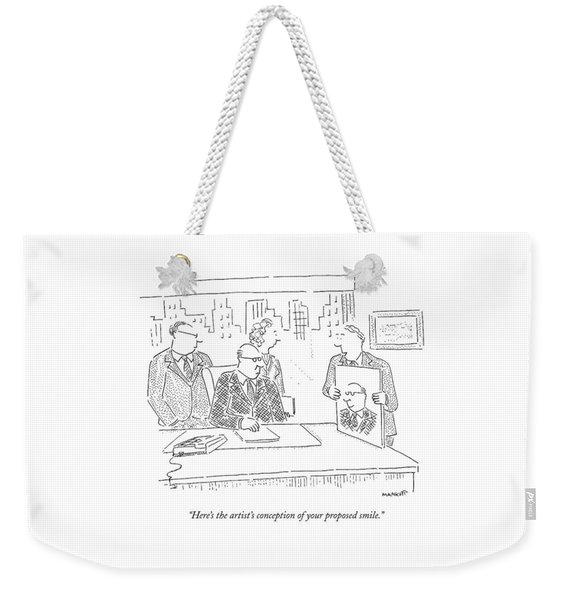 Here's The Artist's Conception Of Your Proposed Weekender Tote Bag