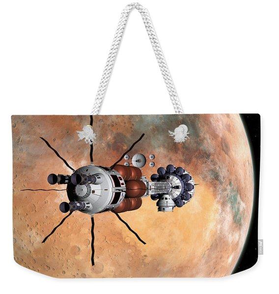 Hermes1 Realign Orbital Path Weekender Tote Bag