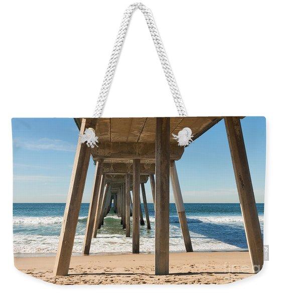 Hermosa Beach Pier Weekender Tote Bag