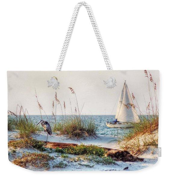Heron And Sailboat Weekender Tote Bag