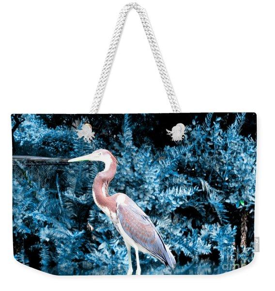 Heron In Blue Weekender Tote Bag