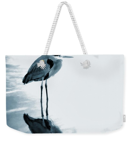 Heron In The Shallows Weekender Tote Bag