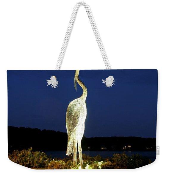 Heron On Mill Pond Weekender Tote Bag