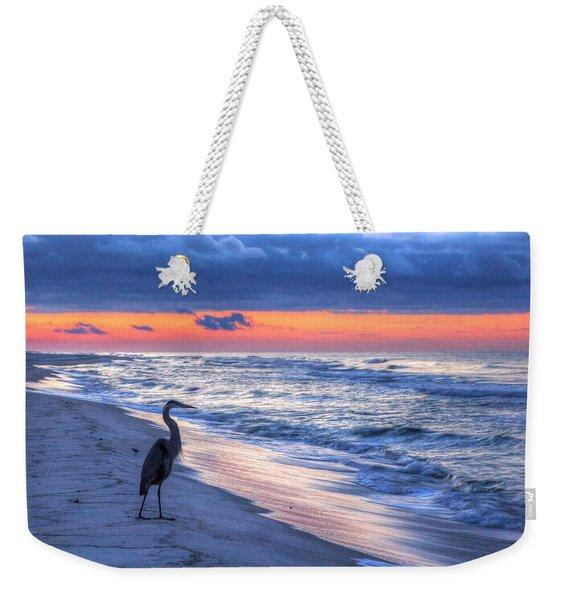 Heron On Mobile Beach Weekender Tote Bag