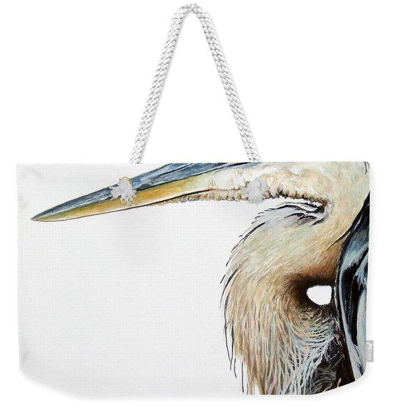 Heron Study Square Format Weekender Tote Bag